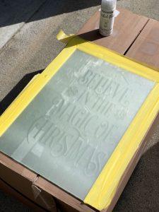Rustoleum etching glass spray