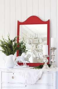 How to faux etch a mirror