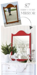 DIY Faux Etched Christmas Mirror from confessionsofaserialdiyer.com