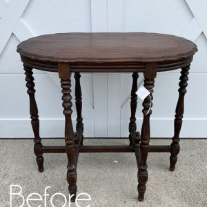 Ornate $25 Thrift Store Table Makeover