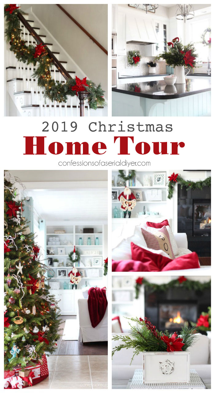 Christmas Home Tour with Traditional Red