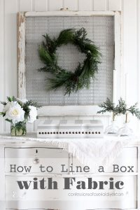 How to Line a Box with Fabric