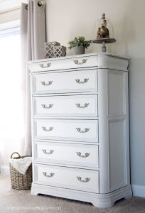 White painted dresser