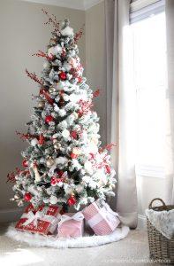 Walmart flocked Christmas Tree