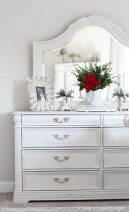White chalk painted dresser