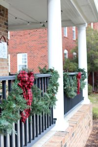 Garland on the porch