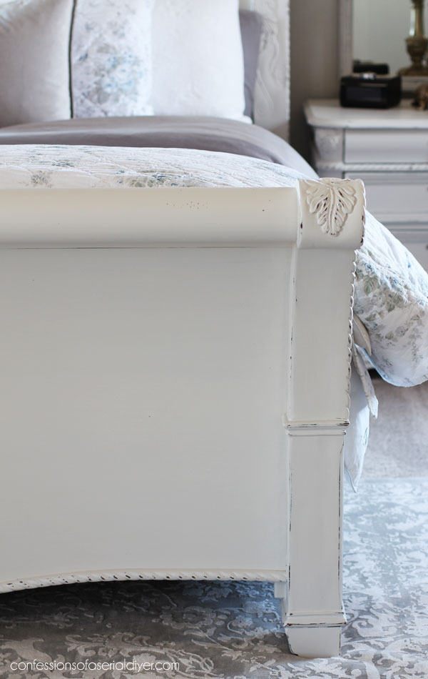 Painting a sleigh bed white