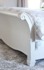 Painting a sleigh bed