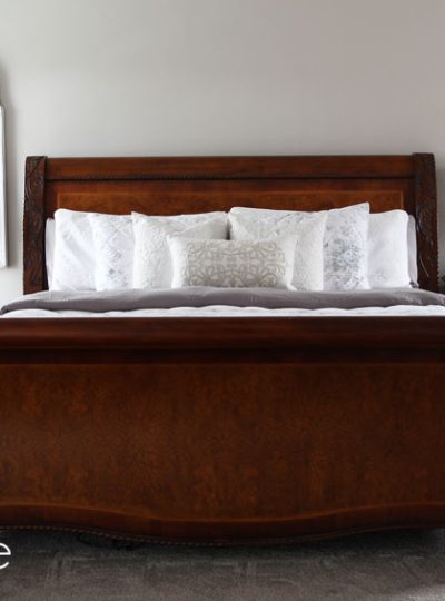 How to Paint a Sleigh Bed