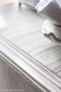 Whitewashed wood cabinet