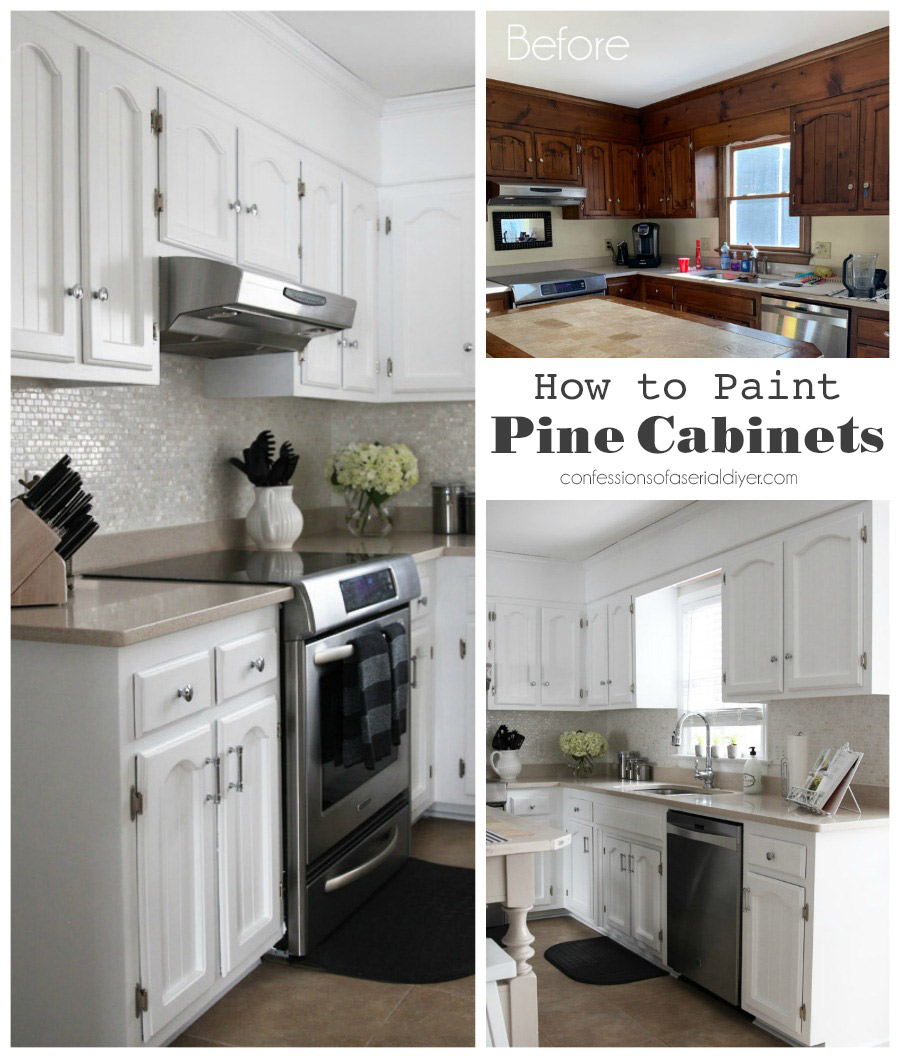 How to Paint Pine Cabinets