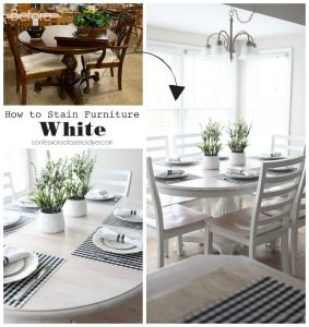 How to Stain Furniture White