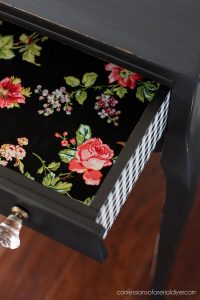 Add transfers to the sides of drawers for a fun touch!