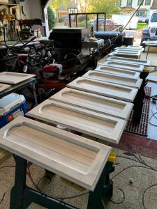 Prime Pine cabinets with B-I-N Shellac-Based Primer