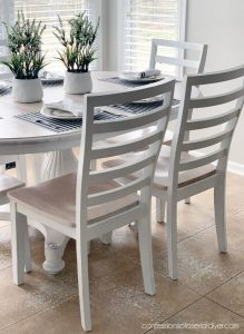 Dining Table with white stain