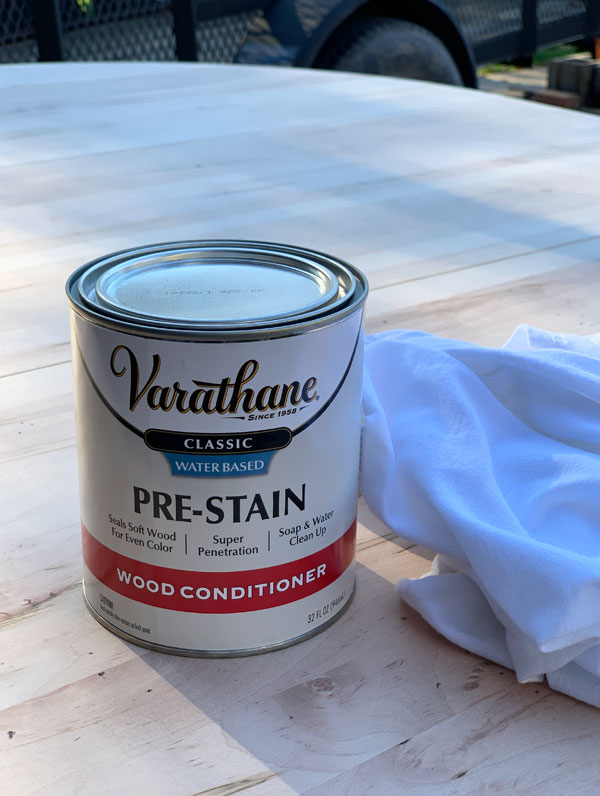Pre-Stain conditioner by Varathane