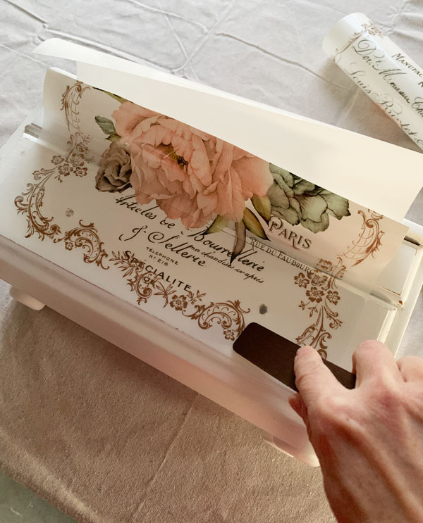 Adding a transfer to a jewelry box