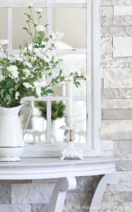 Gray whitewashed table
