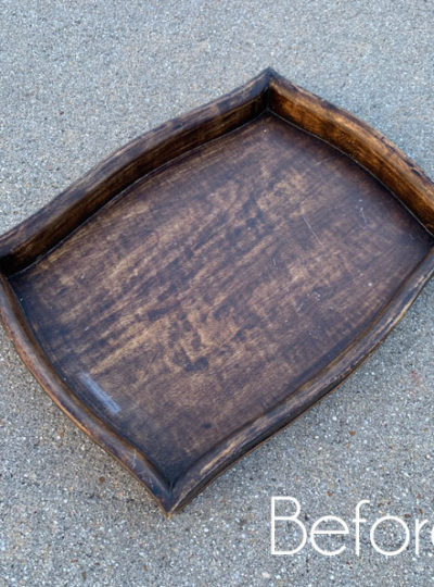 $3 Thrift Store Tray Makeover