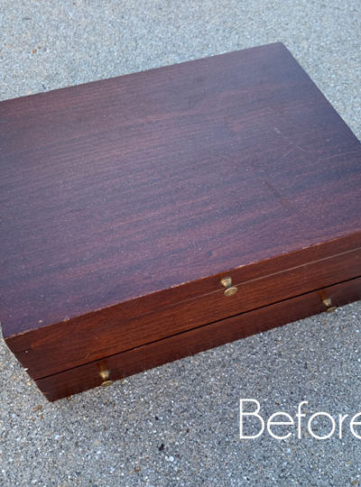 $5 Flatware Box Makeover