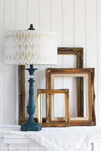 $5 Thrift Store lamp painted in Dixie Belle's Antebellum