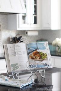 Painted cookbook holder