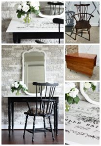 Windsor chair and drop leaf table makeover