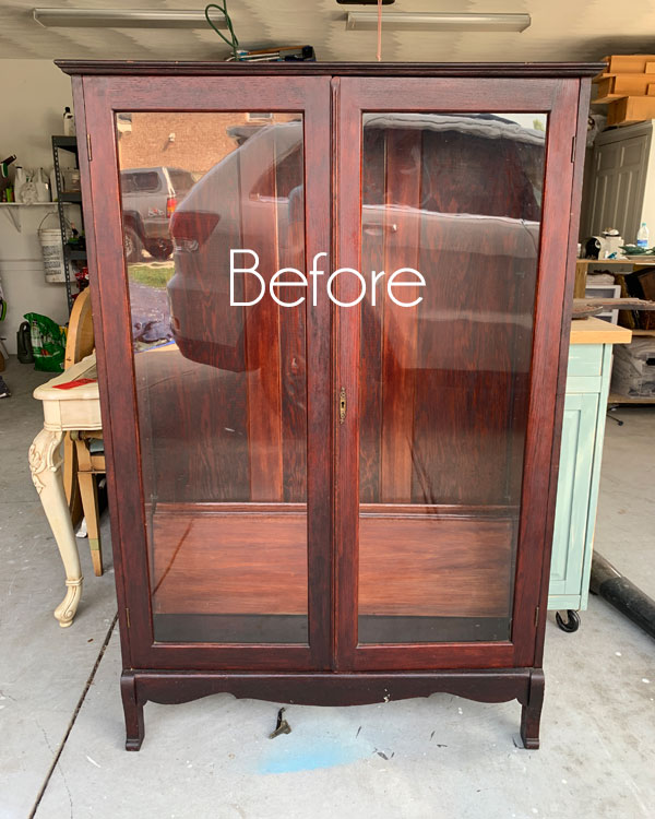 Antique Bookcase Makeover & Tips for Styling Shelves