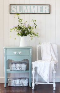 How to Paint Furniture with chalk paint.