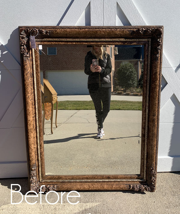 Shabby Mirror Makeover (& How to Cheat a Distressed Look)