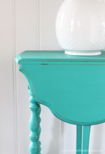 Turquoise Painted Table