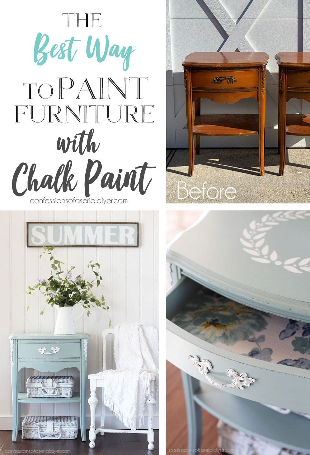 The Best Way to Chalk Paint Furniture