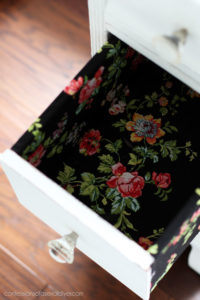 How to cover a drawer in fabric