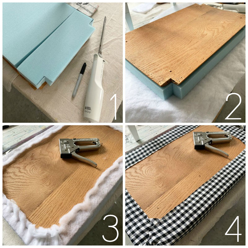 How to add new foam to a bench