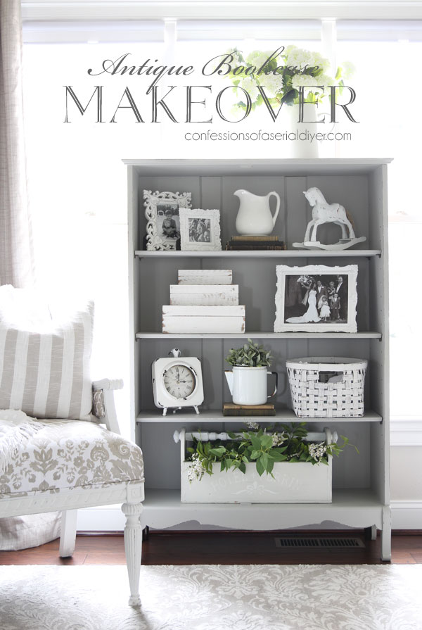 Antique Bookcase makeover