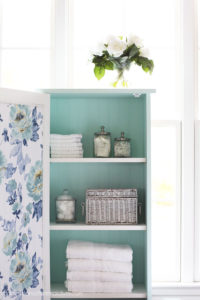 Add bead board to the back of a cabinet