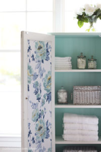 Add fabric to the back of a cabinet door