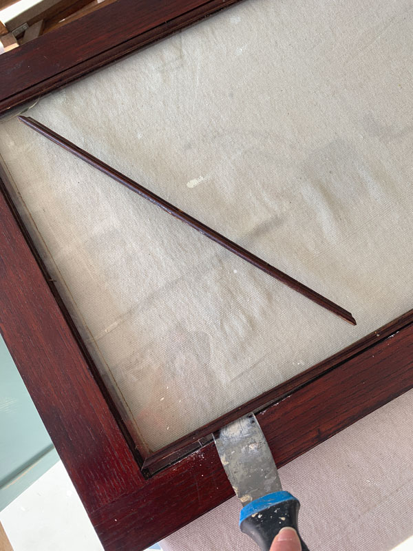 How to remove glass from a cabinet door