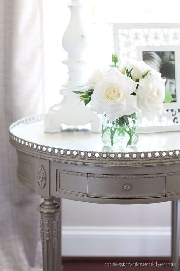 Metallic painted table