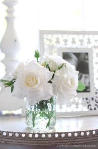 """""""Faux"""" real rose arrangement"""