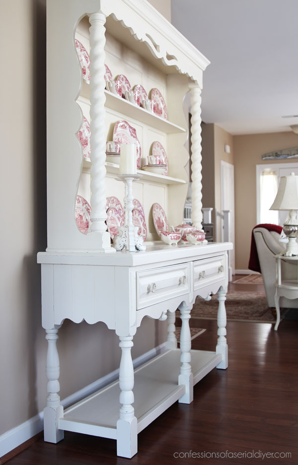 Ivory painted hutch