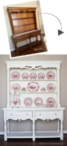 Hutch painted in Dixie Belle Buttercream