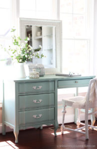 Painting over painted furniture