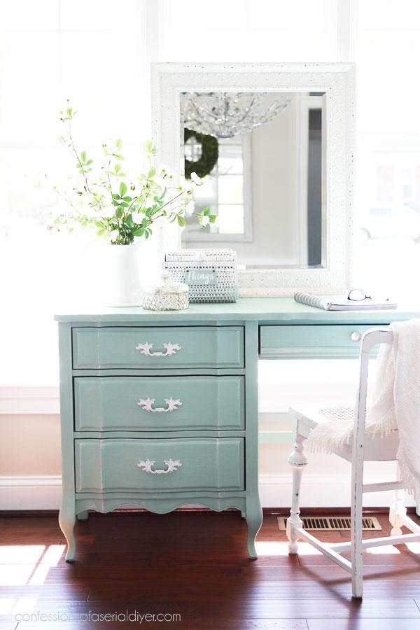 Coastal painted desk
