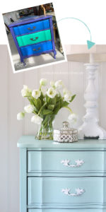 Nightstand painted in Sea Glass by Dixie Belle