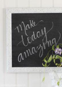 Lettering a chalkboard