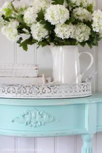 Aqua painted table