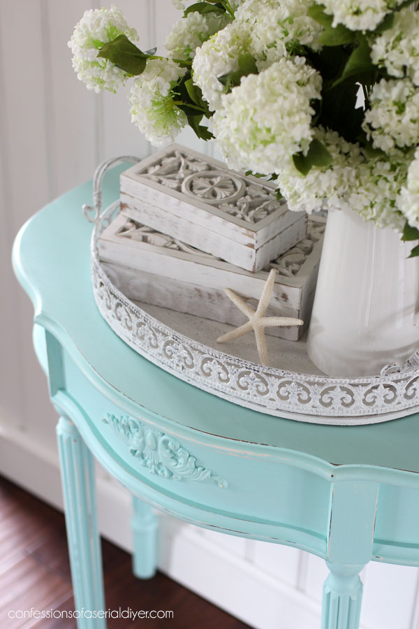 Aqua painted table