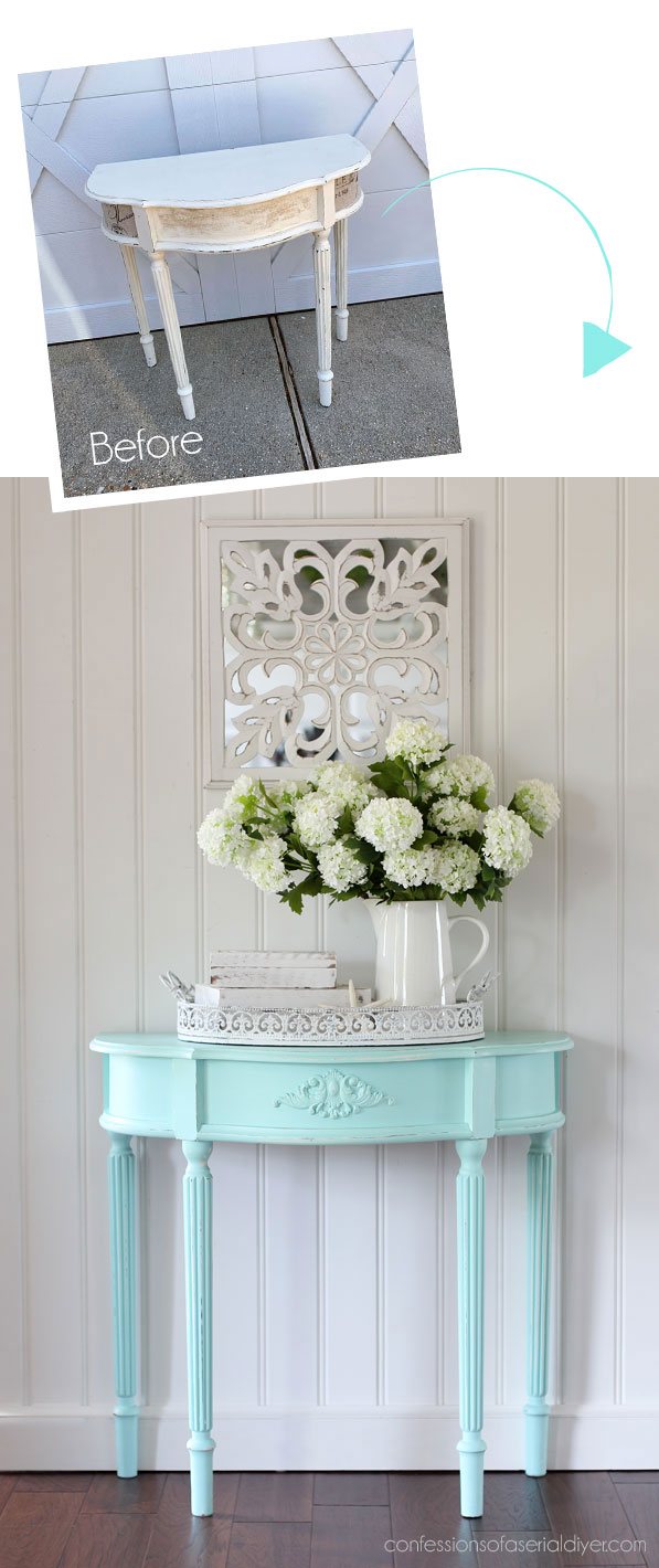 Entry Table Makeover, Take two!