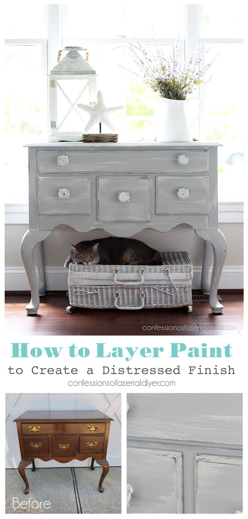How to Layer Paint to Create a Distressed Look